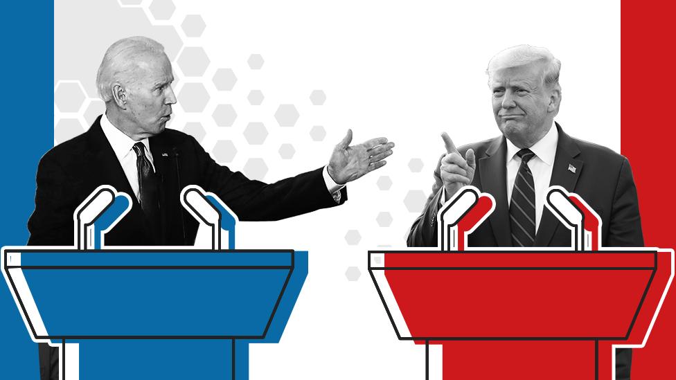 Promo image showing Joe Biden and Donald Trump