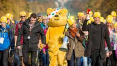 Pudsey and Strictly's Anita Rani take a walk for Children in Need