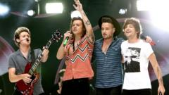 One Direction played their final concert in Sheffield last night. The band announced in August that they would be taking a break.