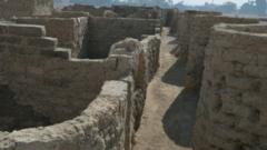 A new archaeological discovery is seen in Luxor, Egypt