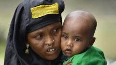 woman and child in Assam in India