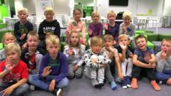 Children in the classroom in Oulu