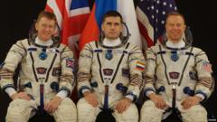 Crew fitted out in their space suits
