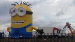 Minion in the fairground
