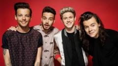 Picture shows - One Direction : l-r Louis Tomlinson, Liam Payne, Niall Horan, Harry Styles