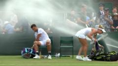 sprinklers going off