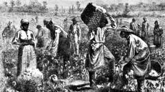 Slaves working on a plantation