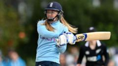 Sophie Ecclestone bats for England