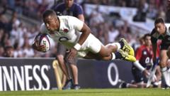 Anthony Watson scored twice for England