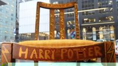 A chair used, and later decorated, by author JK Rowling while she wrote the first two Harry Potter books