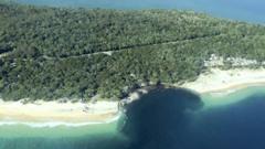 Sinkhole on Australia coast