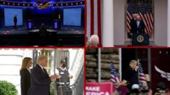 Trump at various events
