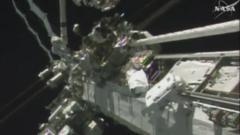 Tim Peake taking a spacewalk