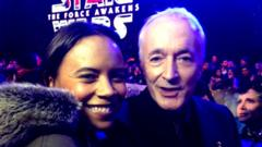 Leah with Anthony Daniels who plays C-3PO