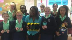 Kids try out the new Micro Bit