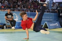 Break dancing boy