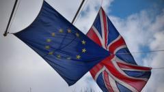 European Union and United Kingdom flags