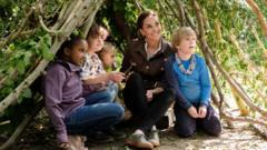 Duchess of Cambridge with children