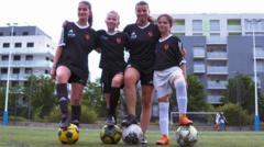 Football-team-in-Lyon