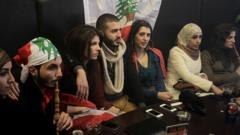 Young people in a cafe in Beirut (file photo)