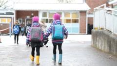 Children heading into school