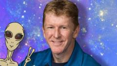 De-Graft speaks to British astronaut Tim Peake about aliens, space hotels and climate change.