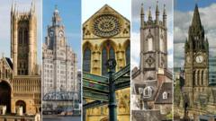 Landmarks from five cities