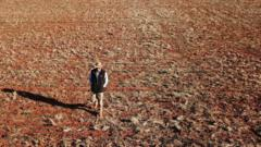 man in drought