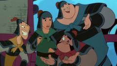 Ling, Mulan, Yao and Po in Mulan.