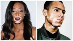Models with vitiligo