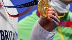 Britain gold medal.