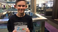 Kai, the winner of Radio 5 Live's Young Commentator of the Year competition.