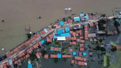 Flooding on the Yangtze River