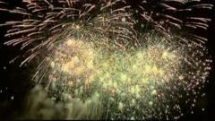 Fireworks display in Edinburgh