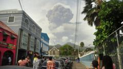 Volcano eruption in St Vincent