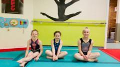 Girls from Alice Kinsella's Gymnastics club