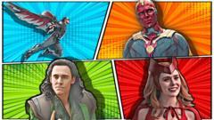 The Falcon, Vision, Loki, Wanda Maximoff.