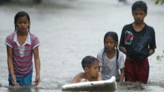 Child in Typhoon Koppu