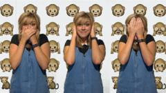 Jenny making emoji faces