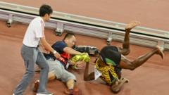 Bolt falls over