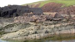 impact crater in north-west Scotland