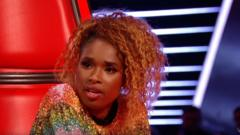 Jennifer Hudson in screengrab from The Voice