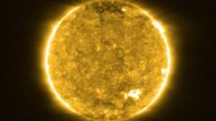 Images released by Solar Orbiter of the sun.