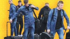 Manchester City all denim outfits