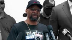 Jymaco Brooks speaks to the media
