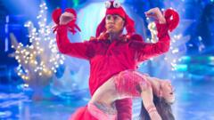 Scott Mills dressed as a crab for Strictly Come Dancing 2014