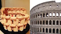 colosseum and biscuit model
