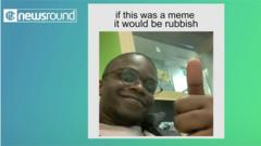 """De'Graft with thumbs up and caption """"if this was a meme it would be rubbish"""""""