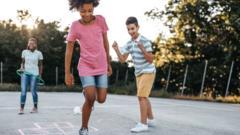 Children at a park