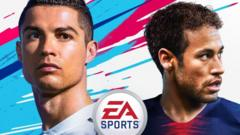 Cover of fifa 19 game featuring Cristiano ronaldo and Neymar